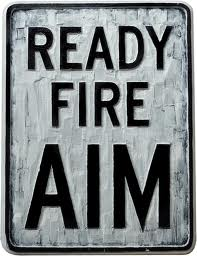 Ready, Aim, Fire! Four types of leaders and three steps to success